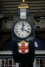 Station clock at York (side face)
